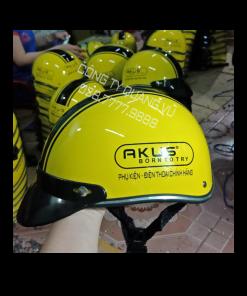 Mũ bảo hiểm nửa đầu vàng sơn bóng