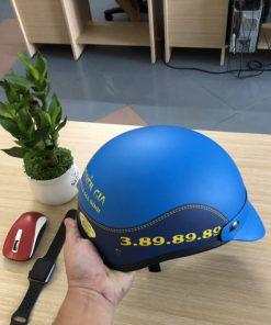 Mũ bảo hiểm 1/2 đầu in giả da sơn nhám