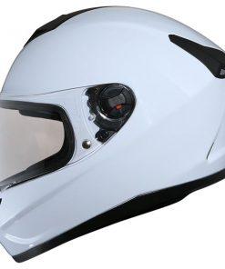 Mũ bảo hiểm nguyên đầu màu trắng