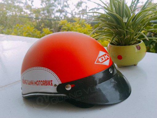 Mũ bảo hiểm cam gạch son nhám