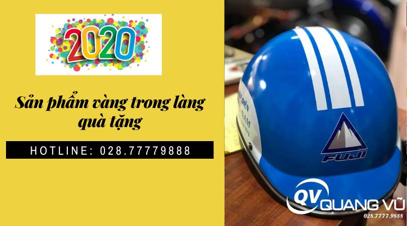 Mũ bảo hiểm quảng cáo Quang Vũ tự hào là đơn vị sản xuất mũ bảo hiểm hàng đầu !