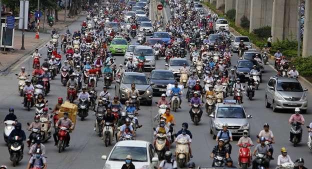 Việt Nam là một trong những nước nằm trong top đầu về thị trường sở hữu xe máy cao nhất thế giới