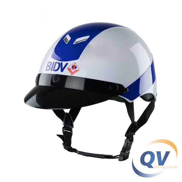 mũ bảo hiểm 1/2 đầu quảng cáo in logo