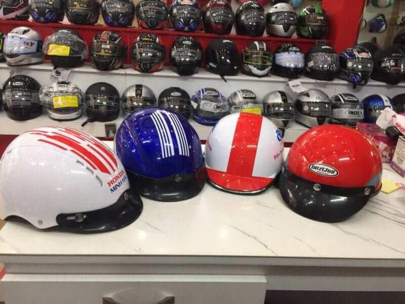 cơ sở sản xuất nón bảo hiểm quảng cáo Hà Nội